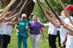 Donna and Marg wedding paddle arch